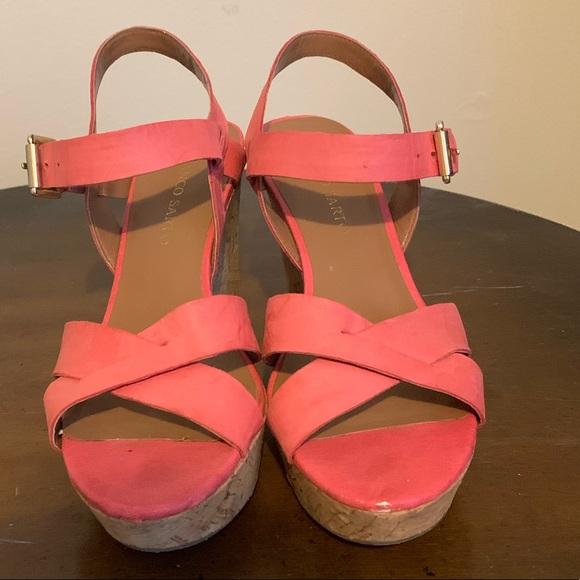 Franco Sarto Shoes - Franko Sarto watermelon colored wedges